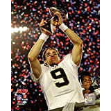 New Orleans Quarterback Drew Brees With Super Bowl IV Trophy. 8x10 Photo Picture.