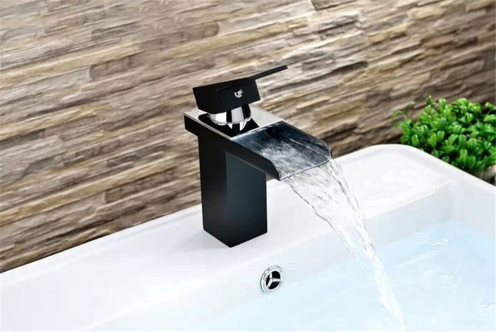 A Gyps Faucet Basin Mixer Tap Waterfall Faucet Antique Bathroom Mixer Bar Mixer Shower Set Tap antique bathroom faucet Single Handle paint basin faucet antioxidant waterfall faucet basin mixer square wh