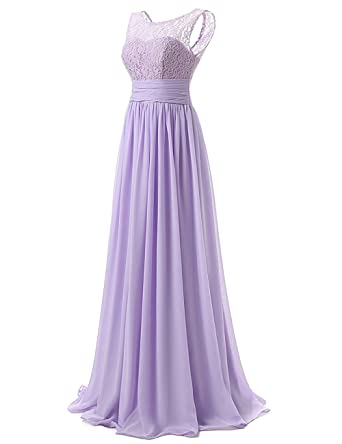 nords vina 2017 Purple Chiffon Prom Evening Dresses Lace Collars Floor Length Bride Bridesmaid Dress (