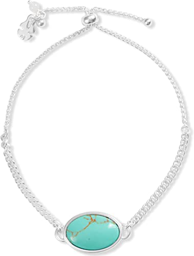 Reversible Silver Tone and Turquoise Necklace