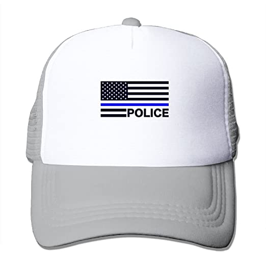 7089fc5ac37 Amazon.com  NO4LRM Adult s Thin Blue Line American Flag Youth Mesh ...