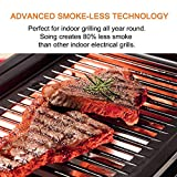 Soing Indoor Smoke-less Grilll, Heating Electric Tabletop Grill, Non-Stick Easy to Clean BBQ Grill, for Party/Home, ETL Certified (Indoor Grill)