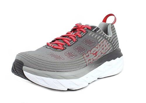 HOKA ONE ONE Men/'s Bondi 6 Running Shoe Alloy//Steel Grey