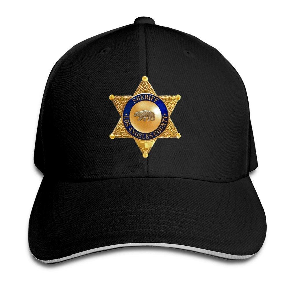 XCarmen los Angeles County Sheriff Trendy Hip Hop Adjustable Caps Black