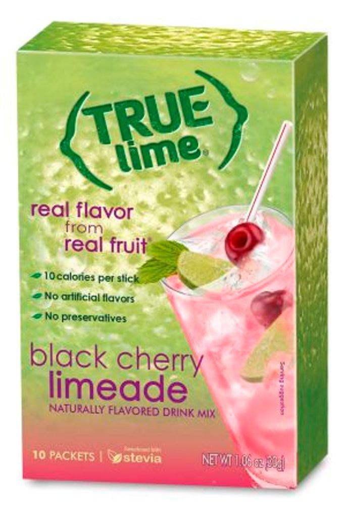 True Lime Limeade Stick Pack, Black Cherry, 10 Count (1.06oz)