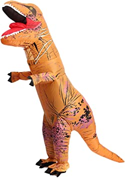 Inflatable Dinosaur T-Rex Jumpsuit Adult Blow Up Costume Jurassic GREEN