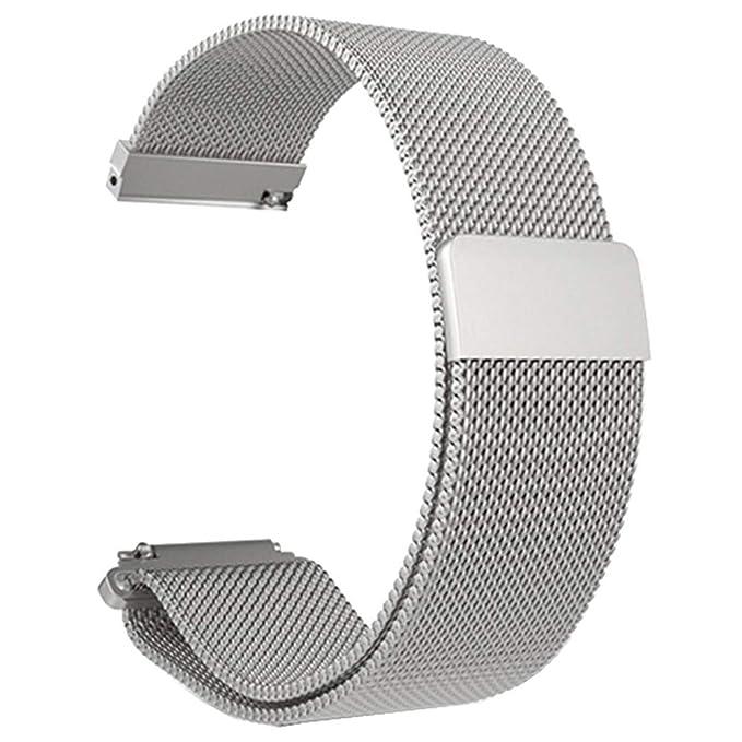 Amazon.com: Zoilmxmen Reloj inteligente pulsera de acero ...