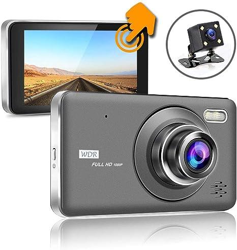 4.0/'/' HD 1080P Touch Screen Dual Lens Car DVR LCD Dash Cam G-sensor Night Vision