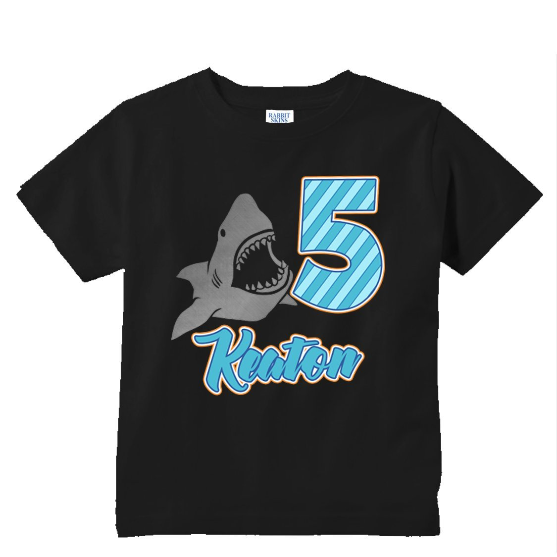 Amazon NanyCrafts Personalized Shark Metallic Birthday Boy Kids Shirts Clothing