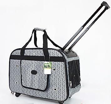 Pet Trolley Case NAUY- Bolsa para Perros Bolsa para Mascotas Bolsa para trole Las Mascotas se embalan con Bolsas de Viaje Transpirables Maletín Bolso ...