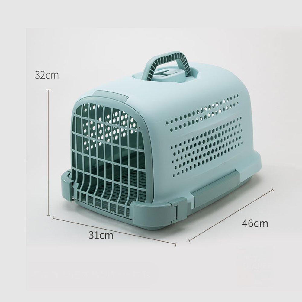 YQQ Pet Box Flight Case Jaulas para Gatos Salida Portátil Caja De Envío De Perro Caja para Mascotas De Transporte Aéreo Suministros para Gatos Paquete De Gato Caja De Gato (Color : Green)