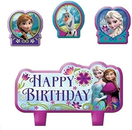 Amazon.com: Frozen Elsa, Anna torta de cumpleaños vela set ...