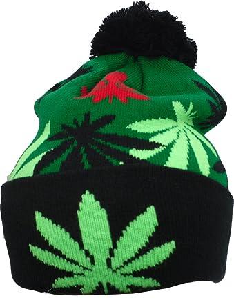 45d57a895d5 Amazon.com  YCMI Winter Warm Mickey Hands Letter Kush Weed Marijuana  Beanies Hat Skully (Green-BB)  Clothing