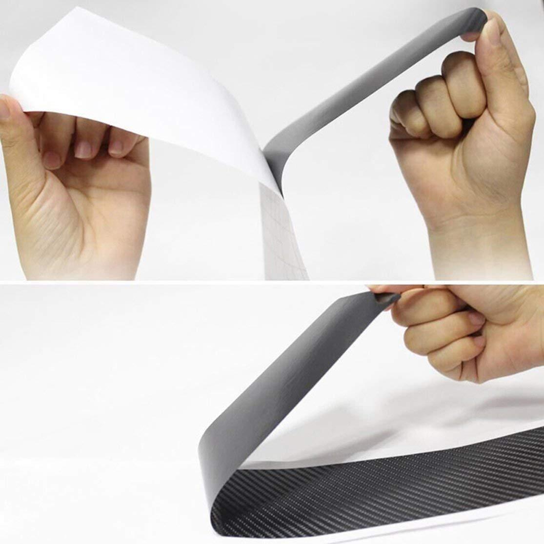 LouiseEvel215 Car Door Sill Scuff Cover Protect Sticker Car Door Sill Scuff Guard Pedal Protector Scuff Plate Sticker with Scraper