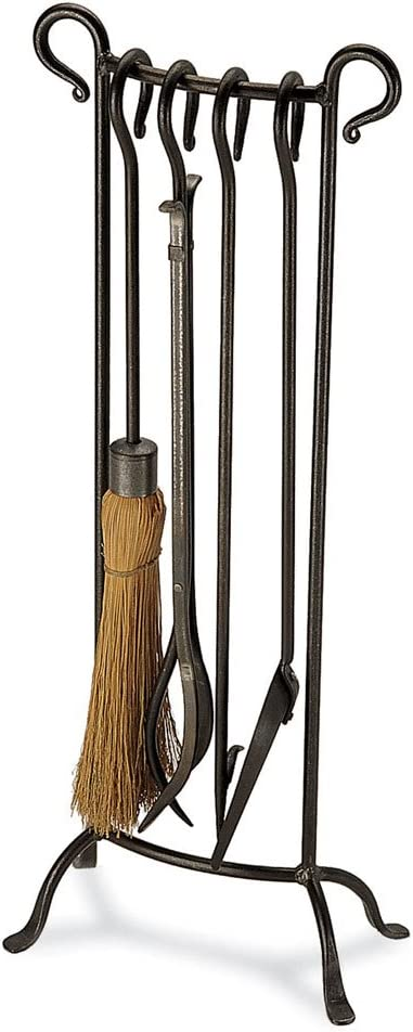 """Pilgrim Home and Hearth 18012 Bowed Fireplace Tool Set, 31"""" H/16 Lb, Vintage Iron"""
