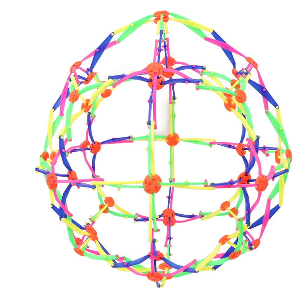 Bonbela Ampliar pl/ástico Estiramiento de la Bola m/ágica Bola de pl/ástico telesc/ópica Chlidren Juguete Divertido de la Bola telesc/ópica Colorido