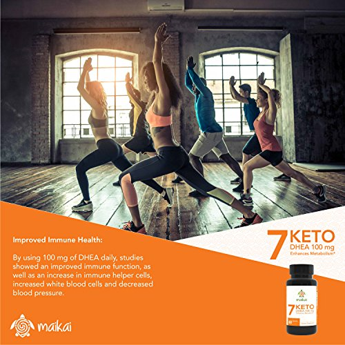 7 Keto DHEA, 100 Mg, Enhances Metabolism and Promotes Weight Loss (60 Servings)