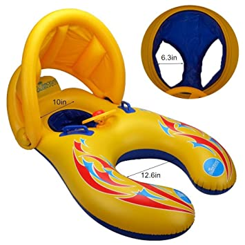 Anillo de natación para bebé,Hoktoy flotador de natación inflable de la piscina del bebé con ...
