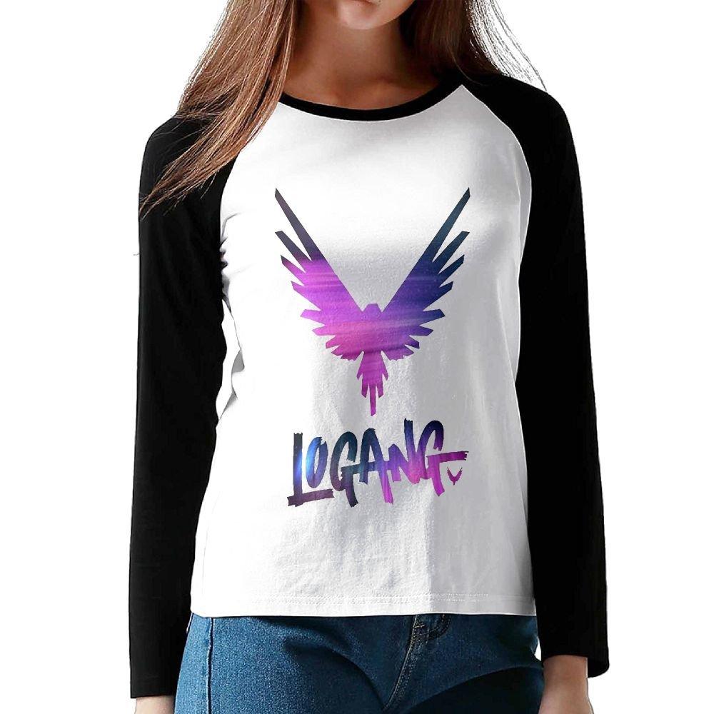 Logan Paul Logang Maverick Girls Long Sleeves Raglan T Shirts