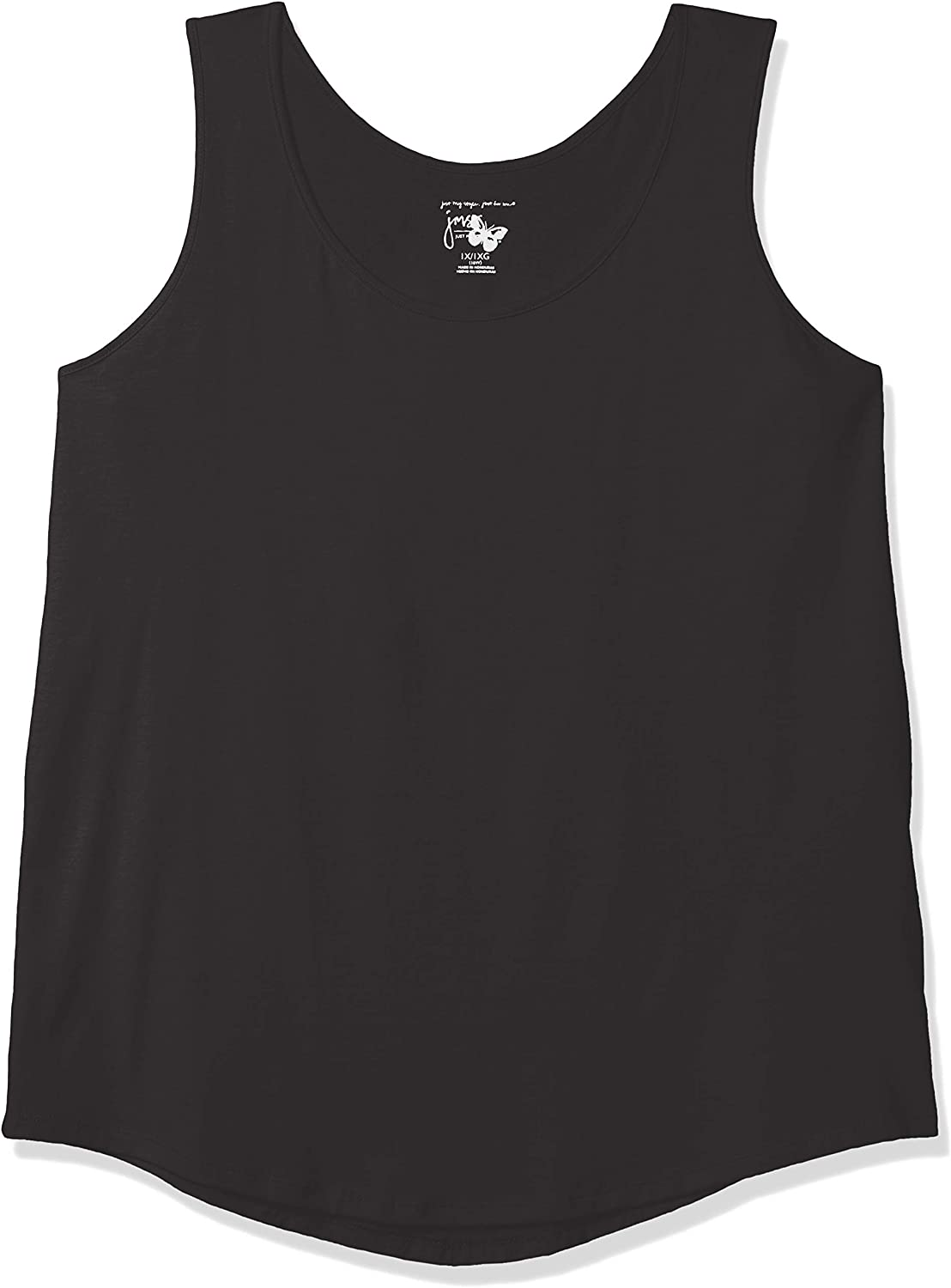 Just My Size Womens Shirt-Tail Tank Top