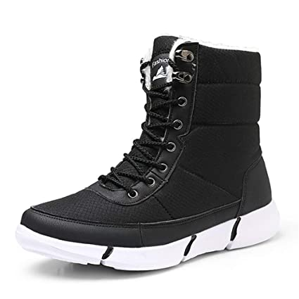 ce23c0283e0 Image Unavailable. Image not available for. Color  GordonKo Super Warm Men  Snow Boots for Men Thick Plush Waterproof Slip-Resistant ...
