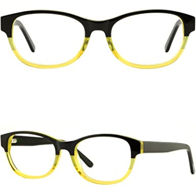 b996596f833 Image Unavailable. Image not available for. Color  Mens Womens Plastic Frames  Acetate Prescription Eyeglasses Glasses Spring Hinges