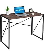 Fold Up Computer Desk Office Desk Study Desk Simple Desk Foldable PC Table Industrial Style Folding Laptop table Notebook Desk for Home Office
