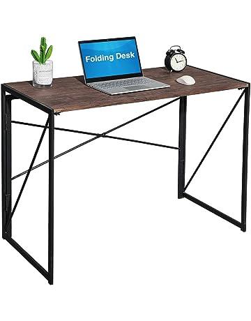 Coavas Folding Computer Desk, No Assembly Study Writing Desk, Home Office