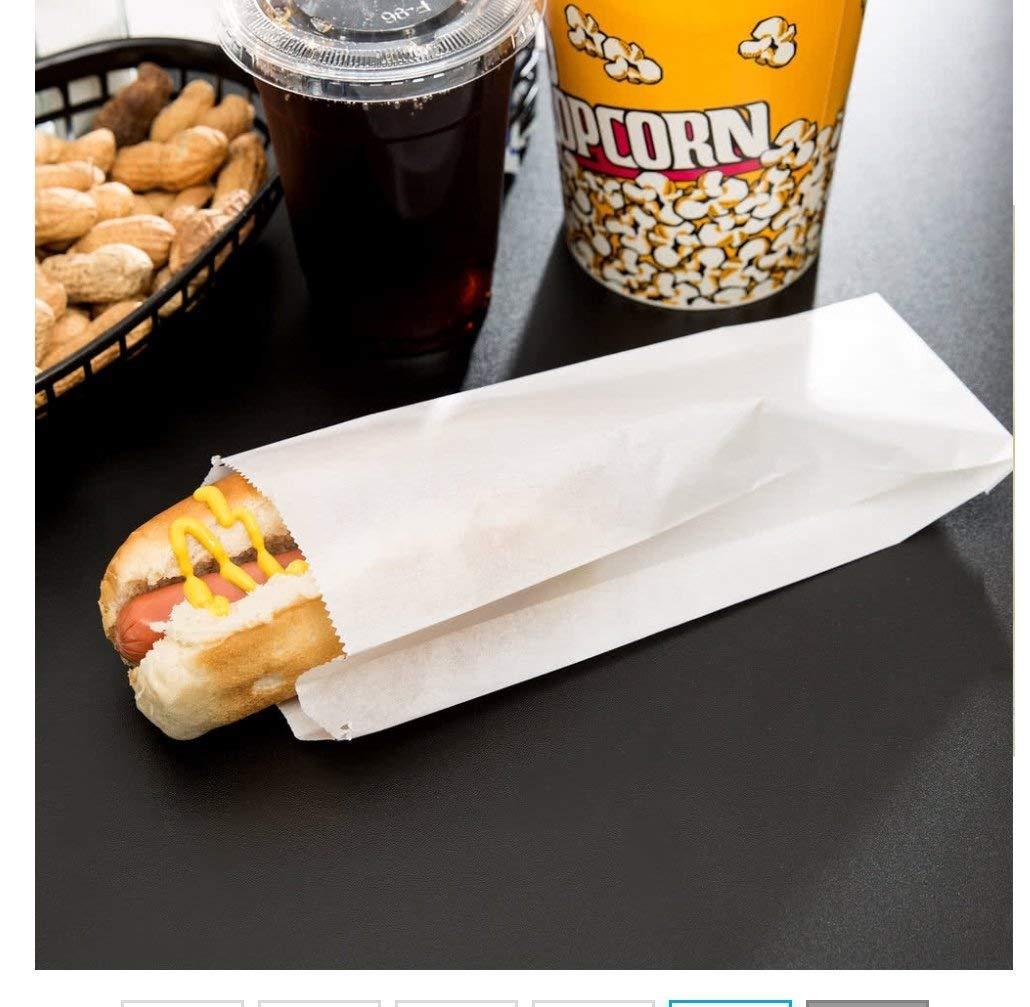 TableTop King 3 1/2'' x 1 1/2'' x 9'' Plain Paper Hot Dog Bag - 1000 / Case
