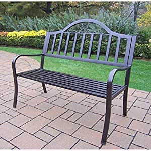 Oakland Living Corporation Hometown Wrought Iron Bench