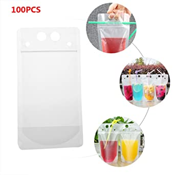 Quici 100pcs clara desechables 500 ml recipiente Stand Up ...