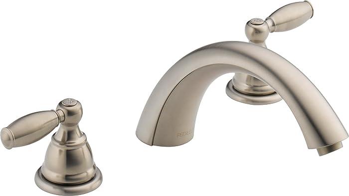 Peerless Claymore 2-Handle Widespread Roman Tub Faucet Trim Kit, Brushed Nickel PTT298696-BN (Valve Not Included)