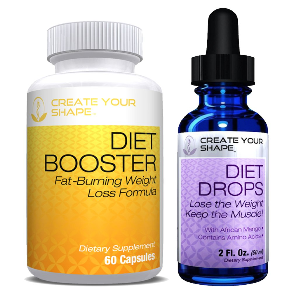 Create Your Shape Diet Drops Best Seller + Diet Booster - Rapid Weight Loss Supplement - with African Mango - Amino Acids - Fat Burner - Appetite Suppressant - 100% All Natural - Made USA by CREATE YOUR SHAPE