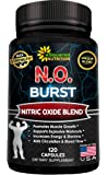 N.O. BURST - Best Nitric Oxide Supplement with L-Arginine & L-Citrulline (120 Capsules) - Nitric Oxide Boosters Pills for Endurance, Energy, Cardio Heart Health, Build Muscle & Strength