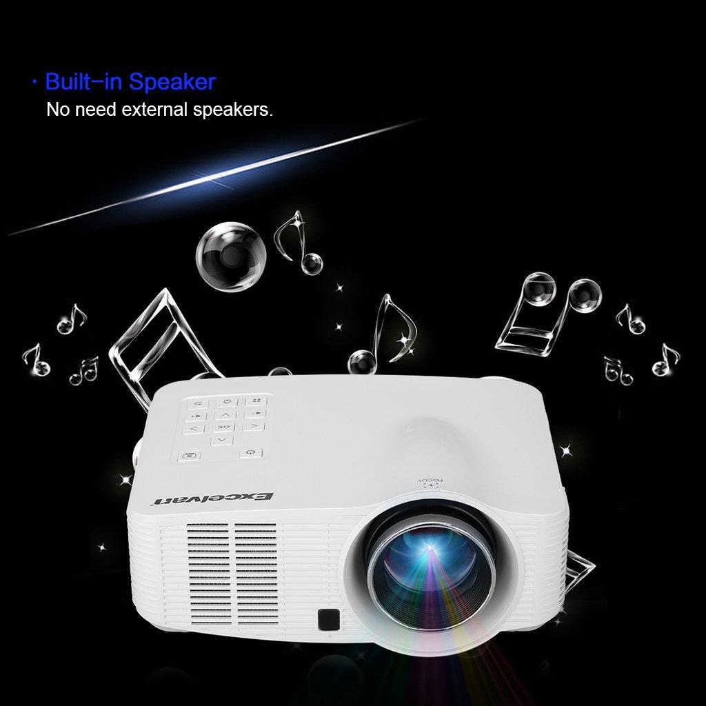 Excelvan Mini Proyector LED Portátil WiFi Android Projector AV y ...