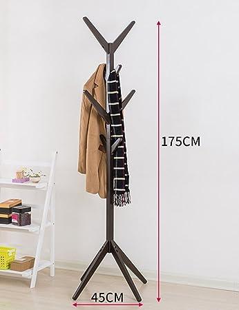 Lieblich ERRU Holz Kleiderständer Massivholz Mantel Hut Rack Haushalt Boden Standing  Coat Stand(4Colors,