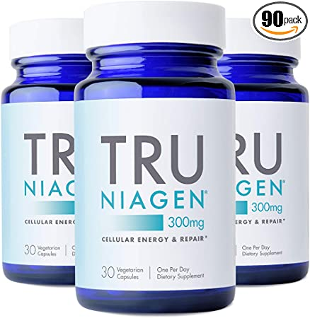 NAD+ Supplement More Efficient Than NMN - Nicotinamide Riboside for Energy, Metabolism, Vitality, Muscle Health, Healthy Aging, Cellular Repair (Patented Formula) 30ct - 300mg (3 Months / 3 Bottles)
