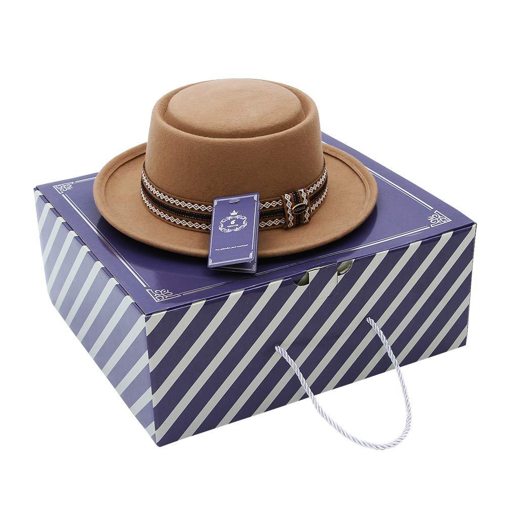 GEMVIE Men 100/% Wool Porkpie Hat Dress Crushable Fedora Hats Gangster Derby Teardrop Fedora Hat