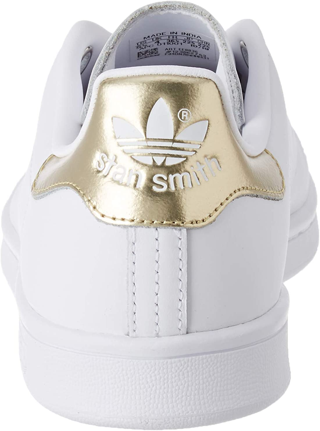 adidas Originals Women's Stan Smith Sneakers Leather -Gold White
