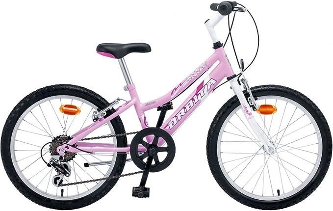 Bicicleta Infantil MTB Acero Orbita BTT 20 6v Rosa Blanca: Amazon ...