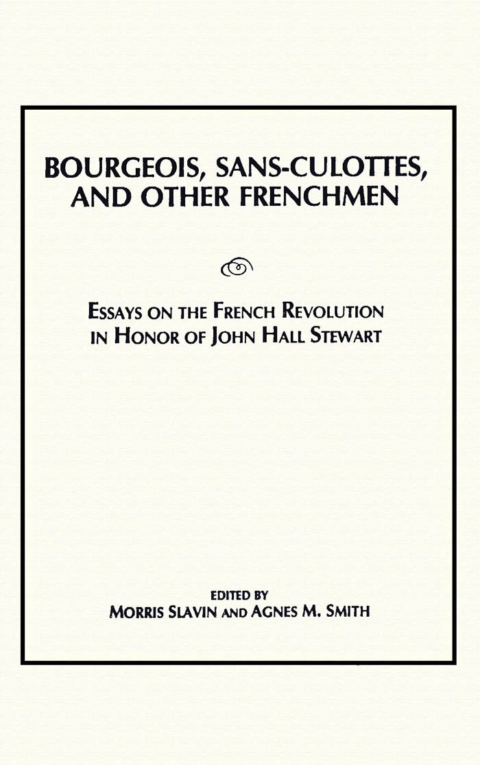 Sample Of Research Essay Paper Bourgeois Sansculottes And Other Frenchmen Essays On The French  Revolution In Honor Of John Hall Stewart Morris Slavin Agnes M Smith    Informative Synthesis Essay also Health Care Essay Topics Bourgeois Sansculottes And Other Frenchmen Essays On The French  Science And Society Essay