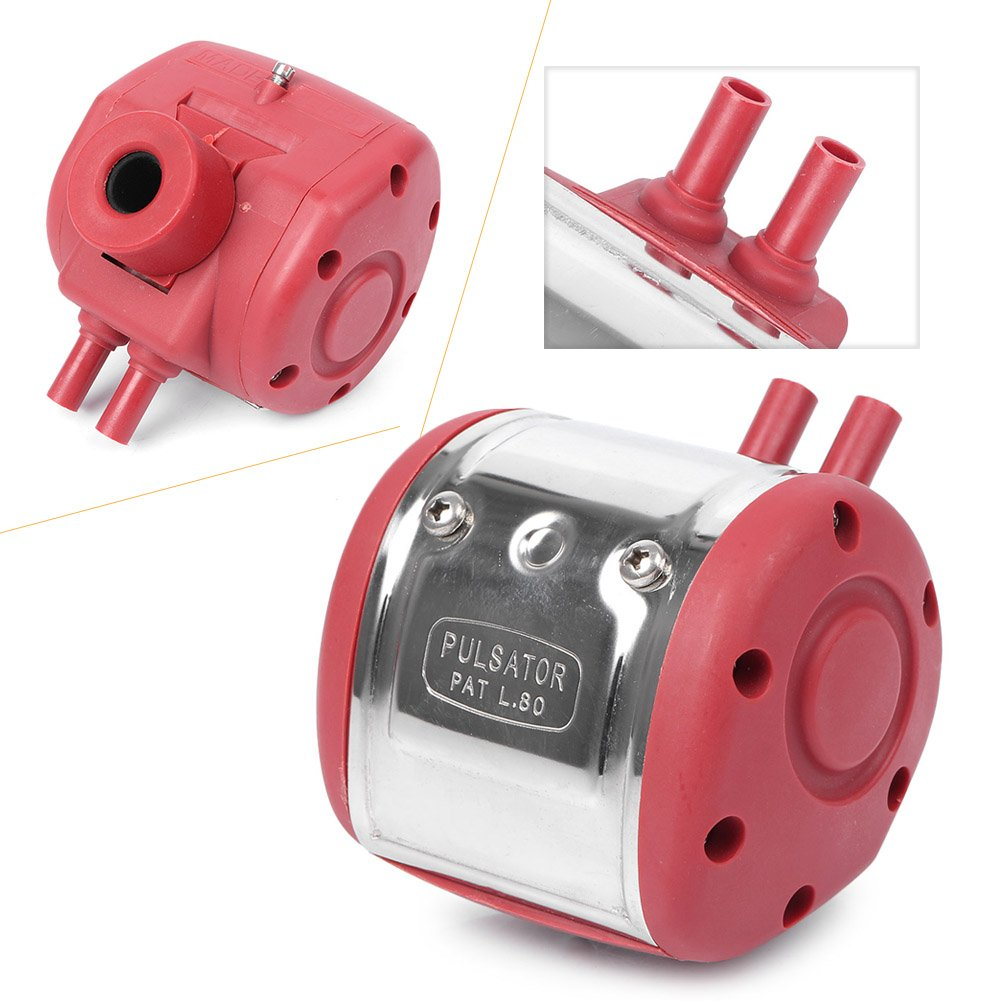 VIC Pneumatic Pulsator for Cow Sheep Goat Milker with 4 Connectors Plastic Cover