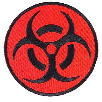 Amazon.com: Biohazard Symbol Danger Warning Symbol Iron on
