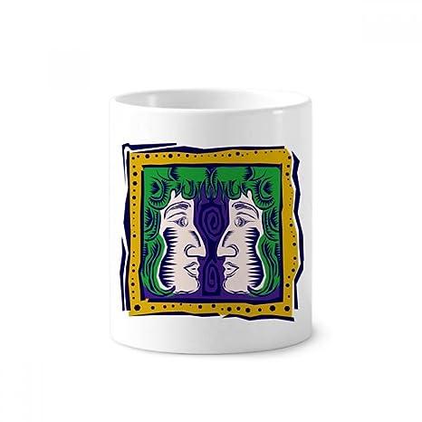 DIYthinker Pintado a mano titular de la constelación de Géminis Mexicon Cultura de cerámica Cepillo de
