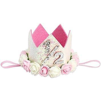 Gold Silver Tiara Elastic Headwear Cute Baby Headband Birthday Crown Headdress