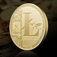 ILOVEDIY Litecoin en Or Plaque Collection Fer Miner Commémorative Coin Cadeau