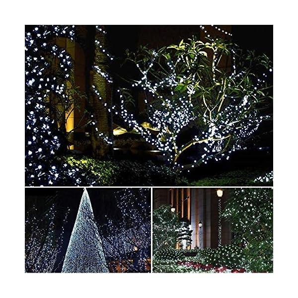 BrizLabs Luci Natalizie Esterno 15M 100 LED Bianco Freddo Luci Stringa 8 Modalità Impermeabile Catena Luminosa Decorazioni Natalizie per Interno, Giardino, Albero di Natale, Matrimonio 7 spesavip