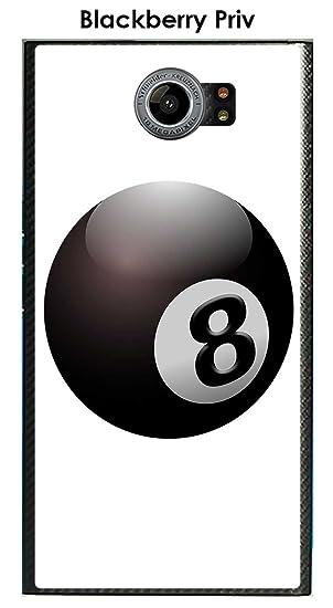 Onozo Carcasa Blackberry Priv Design Bola de Billar N ° 8 Puerta ...
