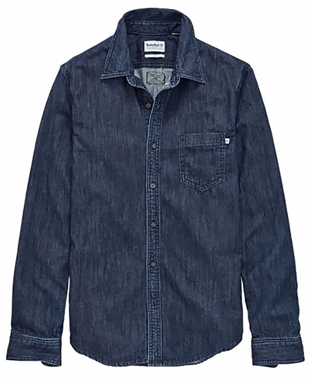 49028a8e82b Timberland men long sleeve indian river slim fit denim shirt faded wash  large clothing jpg 989x1199