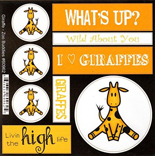 (Giraffe Zoo Buddies Scrapbook Stickers (60962))
